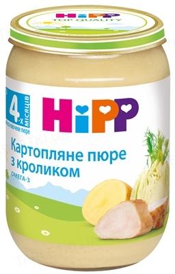 Мясо-овощное пюре HiPP «Картофельное пюре с кроликом», с 4 месяцев, 190 г