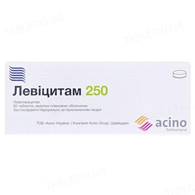 Левицитам 250 таблетки, п/плен. обол. по 250 мг №60 (10х6)