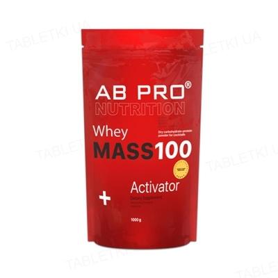 Гейнер AB PRO MASS 100 Whey Activator, шоколад, 1000 г