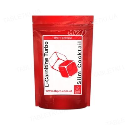 Жироспалювач AB PRO L-carnitine (карнітин) Turbo Slim Cocktail, 200 г