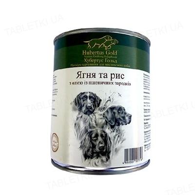 Консерва для собак Hubertus Gold Ягненок и рис, с маслом из зародышей пшеничных зерен, 800 г