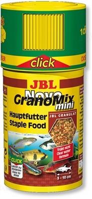 Корм для аквариумных рыб JBL Novo GranoMix mini Click в гранулах, 100 мл