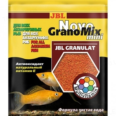 Корм для аквариумных рыб JBL Novo GranoMix mini в гранулах, 30 мл