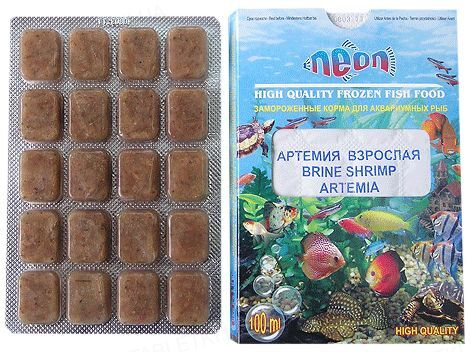 Корм для аквариумных рыб Neon Артемия взрослая, замороженный, 100 мл