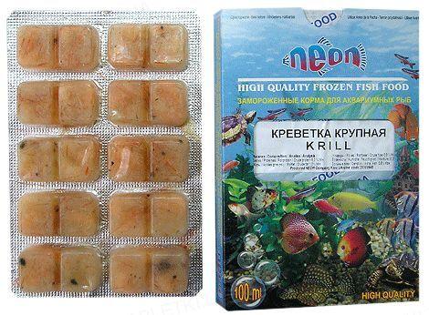 Корм для аквариумных рыб Neon Креветка крупная, замороженный, 100 мл