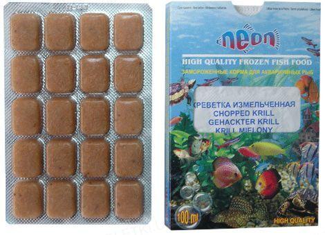 Корм для аквариумных рыб Neon Креветка беспанцирная замороженный, 100 мл
