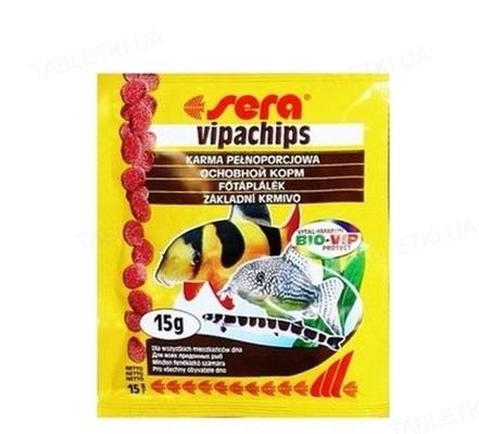 Корм для аквариумных рыб Sera Vipachips которые живут рядом с дном, чипсы, 15 г