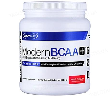 Аминокислота USPlabs Modern BCAA+ Fruit punch, 535 г