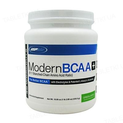 Аминокислота USPlabs Modern BCAA+ Green apple, 535 г