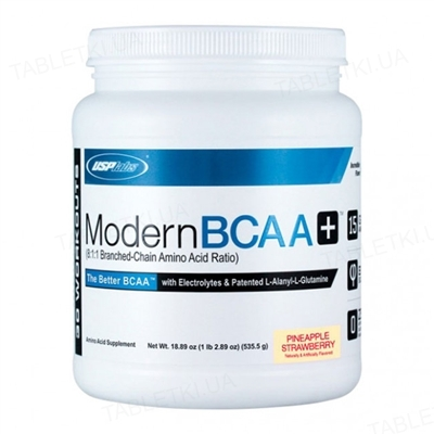 Аминокислота USPlabs Modern BCAA+ Pineaple strawberry, 535 г