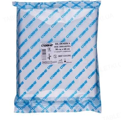 Пеленка гигиеническая Славна, стерильная 90 см x 60 см, арт. 1211292, 1 штука