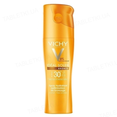 Спрей солнцезащитный Vichy Ideal Soleil для тела, Идеальный загар, SPF 30, 200 мл