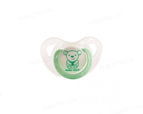 Пустышка силиконовая Baby Team 3102 ортодонтическая (TRITAN-пластик), от 6 месяцев, 1 штука