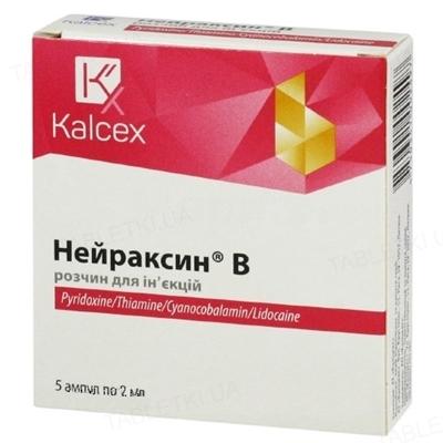 Нейраксин В розчин д/ін. по 2 мл №5 в амп.