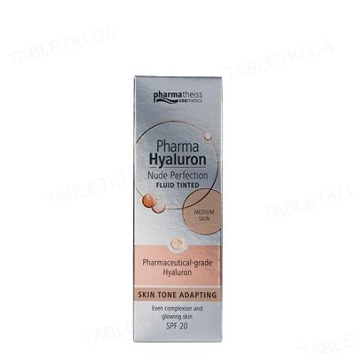 Флюид тонирующий Pharma Hyaluron Nude Perfection средний, SPF 20, 50 мл