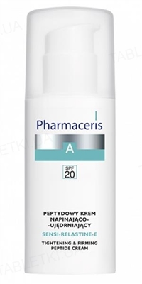 Крем Pharmaceris A Sensi-Relastine-Е пептидный, повышающий тонус и упругость кожи, SPF 20, 50 мл
