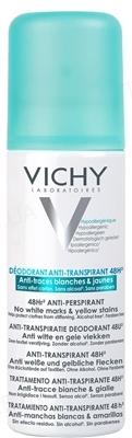 Дезодорант-антиперспирант Vichy Deo 48 часов защиты против белых следов и желтых пятен, 125 мл