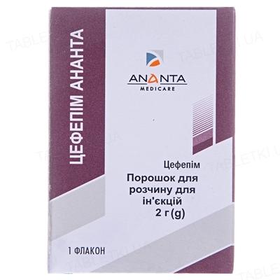 Цефепим-Ананта порошок для р-ра д/ин. по 2 г №1 во флак.