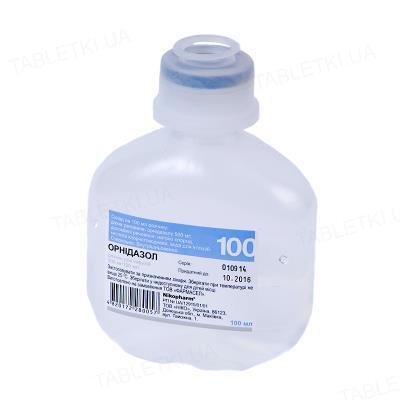 Орнидазол раствор д/инф. 500 мг/100 мл по 100 мл во флак.