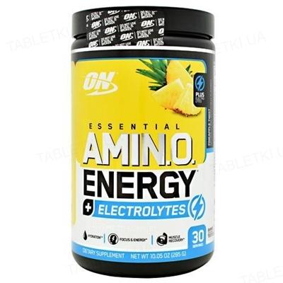 Передтренувальний комплекс Optimum Essential Amin.o. Energy + Electrolytes, ананас, 285 г
