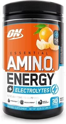 Передтренувальний комплекс Optimum Essential Amin.o. Energy + Electrolytes, мандарин, 285 г
