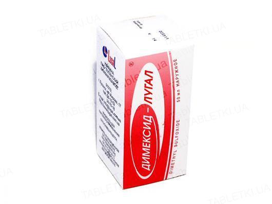 Димексид-Лугал жидкость д/наруж. прим. по 50 мл во флак.