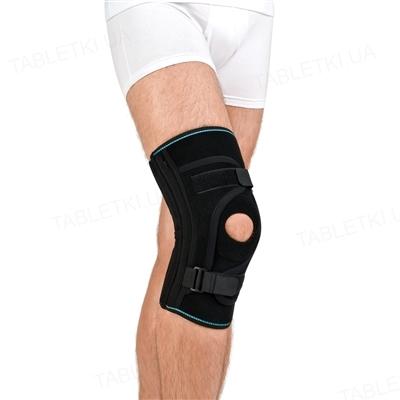 Бандаж для фиксации коленной чашечки Алком 4038, неопреновый, цвет черный, размер 4
