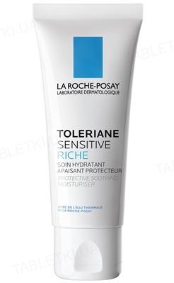 Крем La Roche-Posay Toleriane Sensitive Riche зволожуючий, для захисту і заспокоєння нормальної та комбінованої шкіри, 40мл