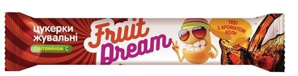 Конфеты жевательные Fruit Dream с ароматом Колы +  Витамин С, 18 штук