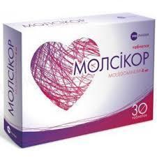 Молсикор таблетки по 4 мг №30 (30х1)
