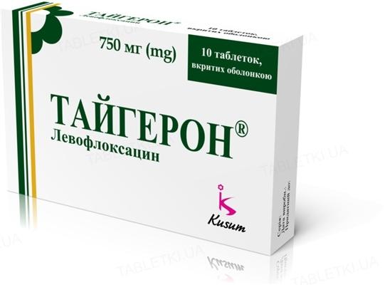 Тайгерон таблетки, п/о по 750 мг №10