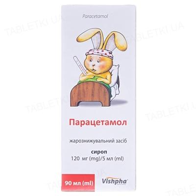 Парацетамол-Вишфа сироп 120 мг/5 мл по 90 мл в бан.
