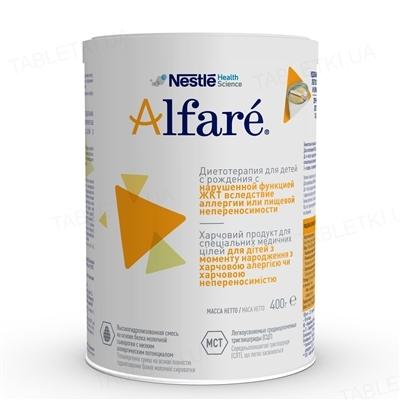 Пищевой продукт специального потребления Nestle Alfare DS080-10, сухая полуэлементная гипоаллергенная смесь, 400 г