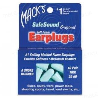 Беруши вкладки ушные Original Safe Sound 9 полипропиленовые от шума, до 29 дБ, 10 пар