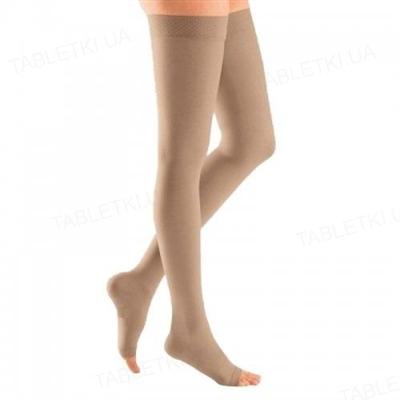 Чулки компрессионные Belsana класс компрессии 1 стандарт, открытый носок, бежевые, размер 4