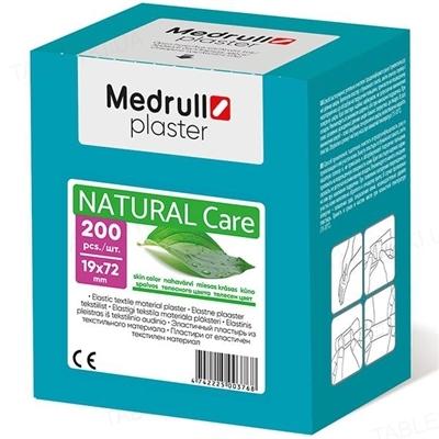 Пластырь бактерицидный Medrull Natural Care на тканевой основе, размером 1,9 см х 7,2 см, 200 штук