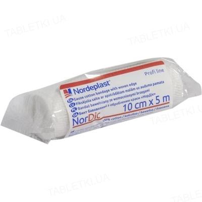 Бинт хлопчатобумажный Nordeplast НорДик с обработанным краем 10 см х 5 м