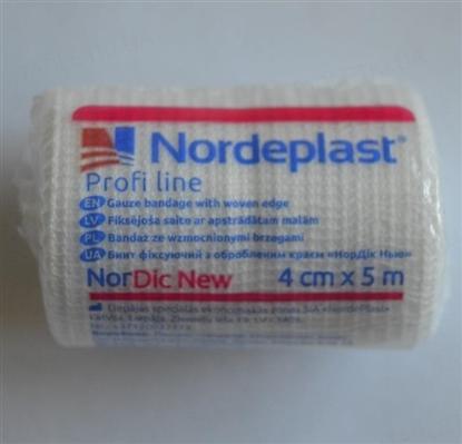 Бинт фиксирующий Nordeplast НорДик Нью с обработанным краем 4 см х 5 м