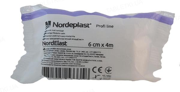 Бинт эластичный Nordeplast НордЭласт фиксирующий 6 см х 4 м