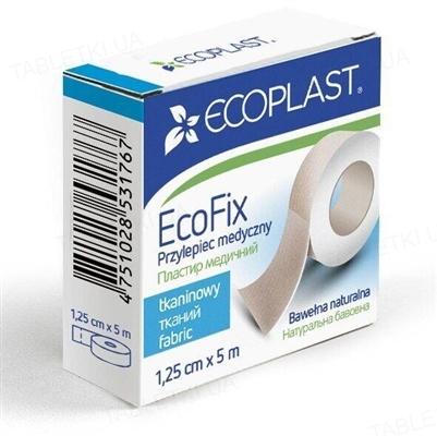 Пластырь медицинский Ecoplast EcoFix (ЭкоФикс) на тканой основе 1,25 см х 5 м, бумажн. упак.