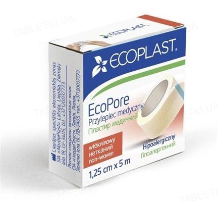 Пластырь медицинский Ecoplast EcoPore (ЭкоПор) на нетканой основе 1,25 см x 5 м, бумаге. упак.