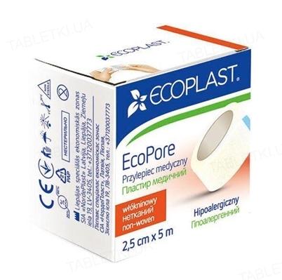 Пластырь медицинский Ecoplast EcoPore (ЭкоПор) на нетканой основе 2,5 см x 5 м, бумажн. упак.