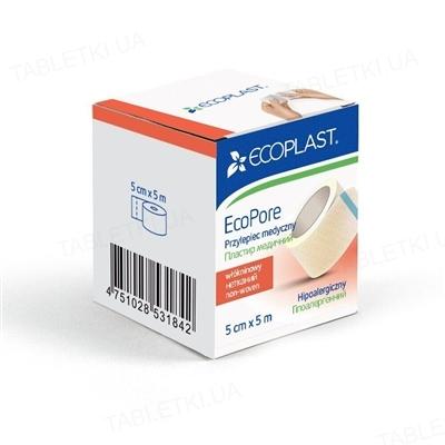 Пластырь медицинский Ecoplast EcoPore (ЭкоПор) на нетканой основе 5 см x 5 м, бумажн. упак.
