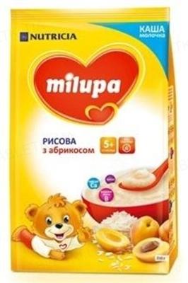 Молочная каша Milupa рисовая с абрикосом для детей с 5 месяцев, 210 г