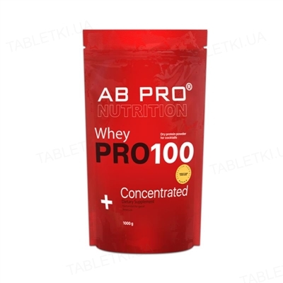 Протеин AB PRO Pro 100 Whey Concentrated, шоколад, 1000 г