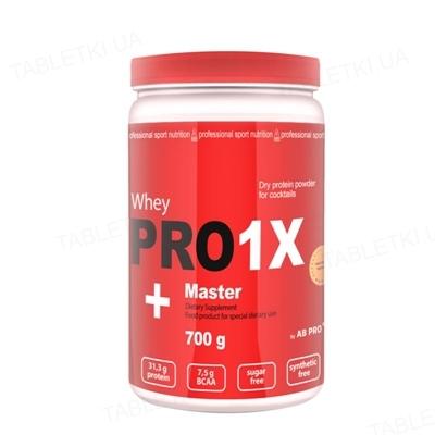 Протеин AB PRO Pro 1x Whey Master высокобелковый 78% протеин, банан, 700 г
