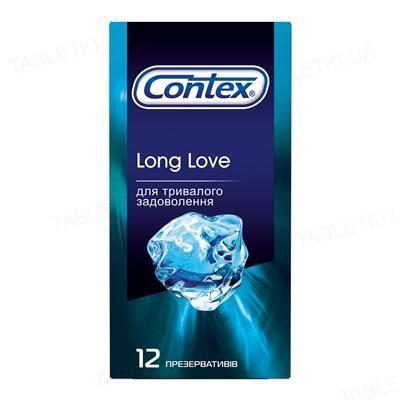 Презервативы латексные Contex Long Love с анестетиком, 12 штук