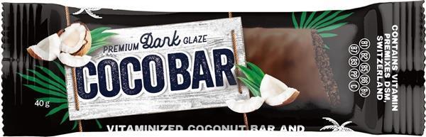 Батончик Coco Bar витаминизированный кокосовый с какао в шоколадной глазури 40 г