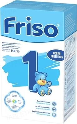 Смесь детская молочная Friso 1, от 0 до 6 месяцев, 350 г