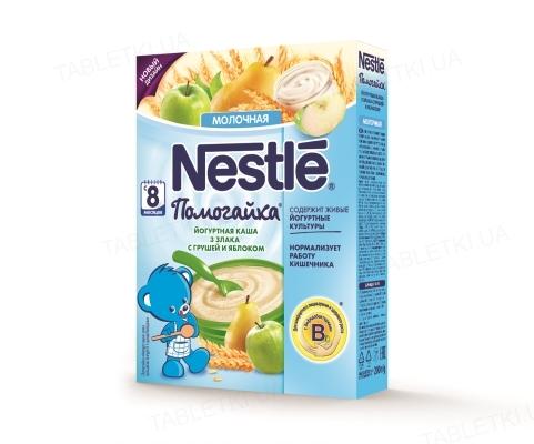 Йогуртная каша Nestle Помогайка 3 злака с грушей и яблоком, 200 г